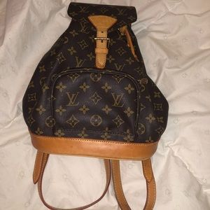 Louis Vuitton backpack.